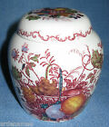 Vintage Mason's England Ironstone China Fruit Basket Pattern Prunus...Ginger Jar
