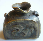 Russian Bronze Clerk 's Neck Inkpot Horse & Lion XVI Century EXTREMELY RARE