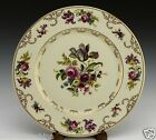7 - Heinrich Selb Bavaria 12515 Floral Gold on Cream Dinner Cabinet Plate