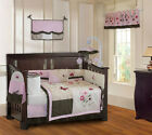 10 Piece Pink Blossom Girls Boutique Baby Crib Bedding set with Musical Mobile