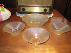Antique Vintage Glass Serving Dish & 3 Side Bowls Great For Christmas Table Set