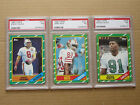 1986 Topps football complete set 10 graded PSA 7 8 9 Rice White Young rookie