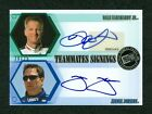 DALE EARNHARDT JR & JIMMIE JOHNSON 2008 PRESS PASS TEAMMATES SIGNINGS 20 25 AUTO