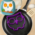 Kitchen Silicone Owl Egg Shaper Make Owl Shaped Fried Fun Cute Mold Ring Tool