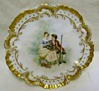 ANTIQUE LIMOGES FRANCE  PORTRAIT PORCELAIN CABINET PLATE. hand painted in 1893