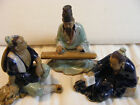 Chinese Shiwan Pottery Mudmen Figurines - Group of 3