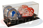 BCW Deluxe Acrylic Double Mini Helmet Display w Mirror UV Protection Wall Mount