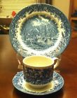 VINTAGE CURCHILL  3 PICES  SET, CUP , SAUCER  PLATE AND 8'' PLATE  ''ENGLAND '