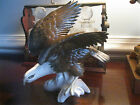 LARGE GERMAN  KARL ENS AMERICAN BALD EAGLE  BIRD FIGURINE  PERFECT