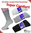 3,6,12 Pairs Diabetic Crew Circulatory Socks Health Mens Cotton 9-11 10-13 13-15