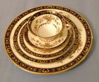 40Pc Set MINTON DYNASTY CobaltBlue & 24K Gold English Bone China - 8 Plc Setting