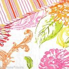 CYNTHIA ROWLEY FLORAL QUEEN QUILT 4pc SET NEW PILLOW! PINK ORANGE YELLOW GREEN