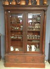 AMERICA VICTORIAN,MEDIUM TONE,MAHOGANY/OAK BEVELED GLASS,CHINA CABINET,1800-1899