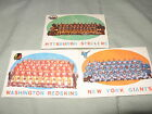 Lot of 3 1959 Topps NFL Team Cards NY Giants Steelers Redskins EX Centered Well