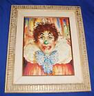 Vintage Marjorie Kubala Original Circus Clown Painting #2, Matted