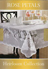 Rose Petals Heirloom Collection Lace Poly Tablecloths 70