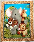 PATTY REED JUNGLE BABIES FABRIC PREQUILTED FABRIC JUST ADD BINDING FREE SHIP NEW