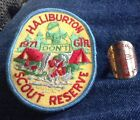haliburton boy scout patch and scarf ring 1971