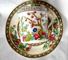 Aynsley England vintage Tree china coffee cup saucer duo gilded vgc