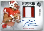 RUSSELL WILSON 2012 UD SP AUTHENTIC ROOKIE AUTO AUTOGRAPH PATCH RC CARD # 885!