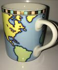 Tiffany & Co. World Map Globe Traveler Cofee Gold Cup Mug