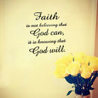 Faith God Letter Word Story quote Wall Sticker Decal Inspirational Quote Art