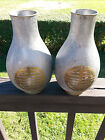 ANTIQUE VINTAGE CHINESE PEWTER AND BRASS VASES PAIR REPUBLIC PERIOD CHINA 10