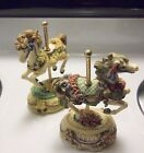 Musical Box Heritage House Carousel Melody County Fair Collection Horses (2)