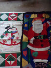 CHRISTMAS QUILT OR WALL HANGING PANELS FABRIC- 2 PCS.