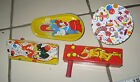 VINTAGE (4) LITHO TIN NOISEMAKERS LOT - US METAL TOY - KIRCHHOF NEW YEAR'S EVE