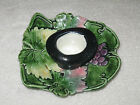 Antique/Vintage Austria Majolica China Hand Painted Decorated Candle Holder 5