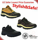 Mens Work Boots 4 Short Winter Snow Boots Shoes Genuine Leather Waterproof 3017