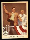 1959 FLEER TED WILLIAMS #48 JULY 14, 1953 - TED RETURNS W FORD FRICK