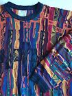 Coogi Sweater M Bill Cosby Biggy Smalls Hip Hop Notorious BIG Medium Colors VTG