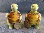 Vintage Japanese Swifty the Turtle Salt and Pepper Shakers with Stoppers