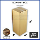 100 4x4x12 Cardboard Packing Mailing Moving Shipping Boxes Corrugated Box Carton
