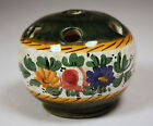 Beautiful vintage signed Italy floral pottery flower frog (T11758)