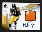 2009 SP Authentic #395 Mike Wallace Autograph Patch Rookie-Steelers Football