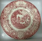 Wedgwood RARE Mulberry Color Georgia Plate Indians, Native Americans, cotton