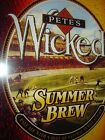 Lot of 3 Pete's Wicked Ale Beer LARGE Changeable Signs for Neon Light Sign NEW