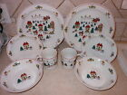 CHRISTMAS DINNER 8 SET HOLIDAY PLATE BOWL CUP VILLAGE JOY OF CLASSIC STUDIO COL