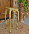 ANTIQUE VINTAGE FRENCH COUNTRY CARVED WOOD SHABBY SIDE TABLE STAND CARVED ROSES