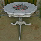 ANTIQUE FRENCH VICTORIAN TABLE DUNCAN PHYFE LEGS HAND PAINTED SHABBY ROSES 31