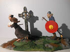 Conte Warlord /Resin Diorama / Viking Chasing Monk--painted by seller
