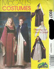 8937 Medieval Gown Cape Costume Zooterz Adult Size Large 38 40 Uncut Pattern