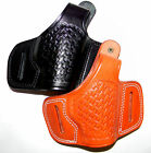 CEBECI ARMS Leather Basketweave Belt Slide Holster with Thumb Break for