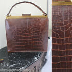 Alligator BROWN PURSE ALL accessories included  Evans EXCELLENT