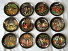 12 DECORATIVE PORCELAIN PLATES RUSSIAN FAIRY TALES UNIQUE SUPERB LIMITED-EDITION