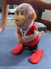 Unique Vintage YANO MAN TOYS Jumping Wind-up Monkey works w/label Japan