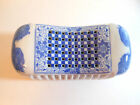 Japanese Porcelain or Ceramic Pillow, Blue & White, Signed, Charming Conv. Piece